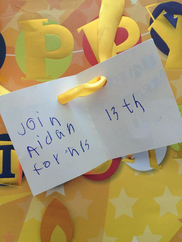 Who is Aidan's mystery friend?
